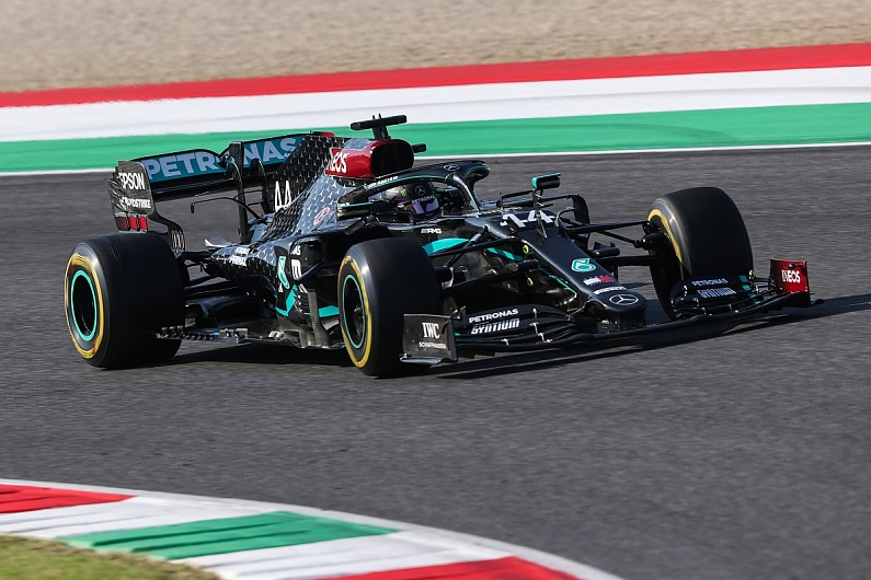 Hamilton's brake fire on F1 Tuscan GP grid down to limited cooling – F1