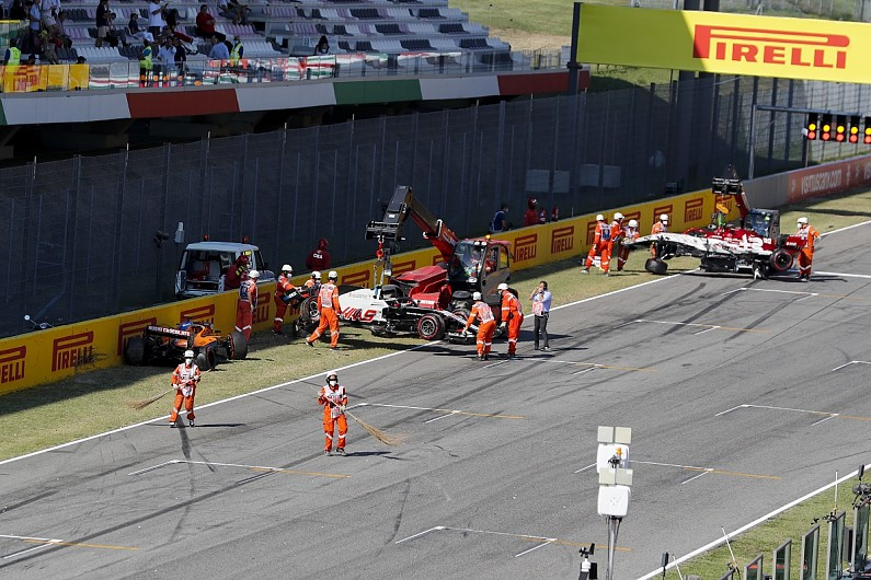 Twelve F1 drivers given warning over pile-up on Tuscan GP safety car restart – F1
