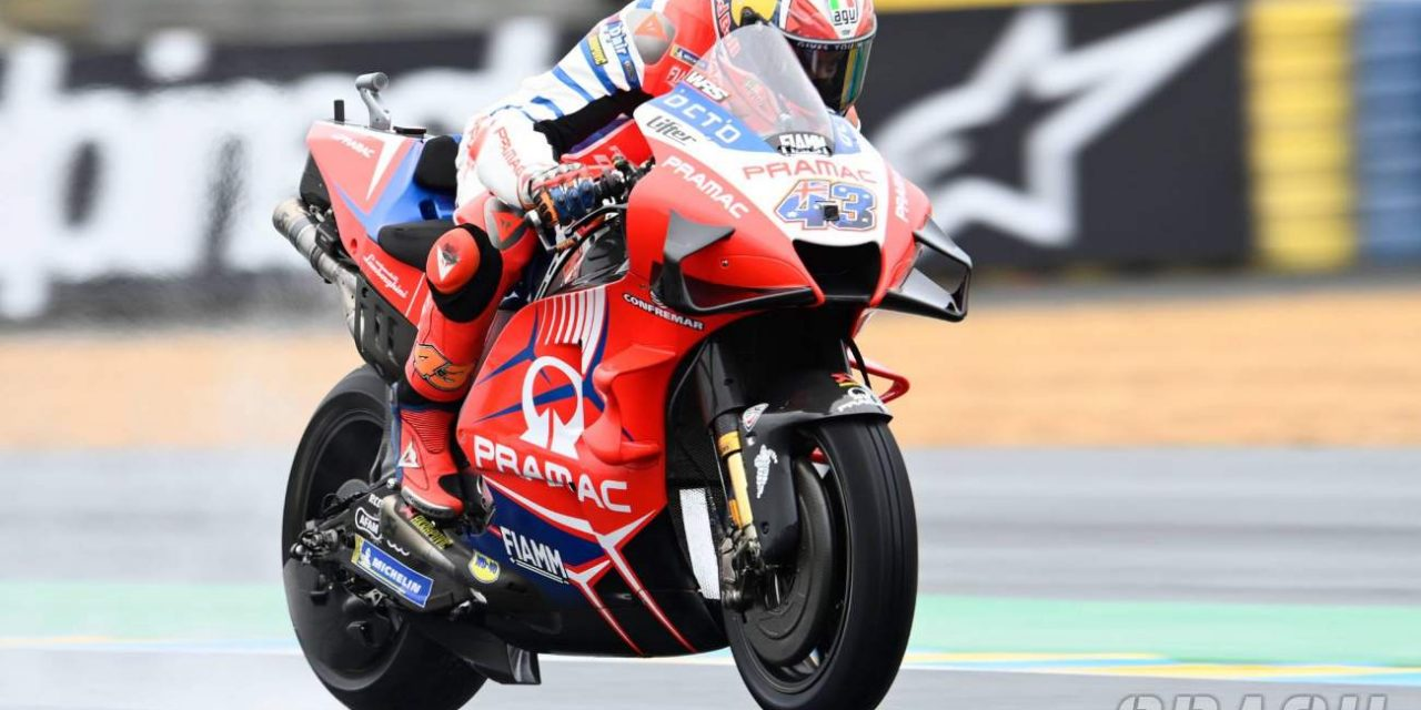 Jack Miller tops French MotoGP FP2 as tricky conditions persist | MotoGP