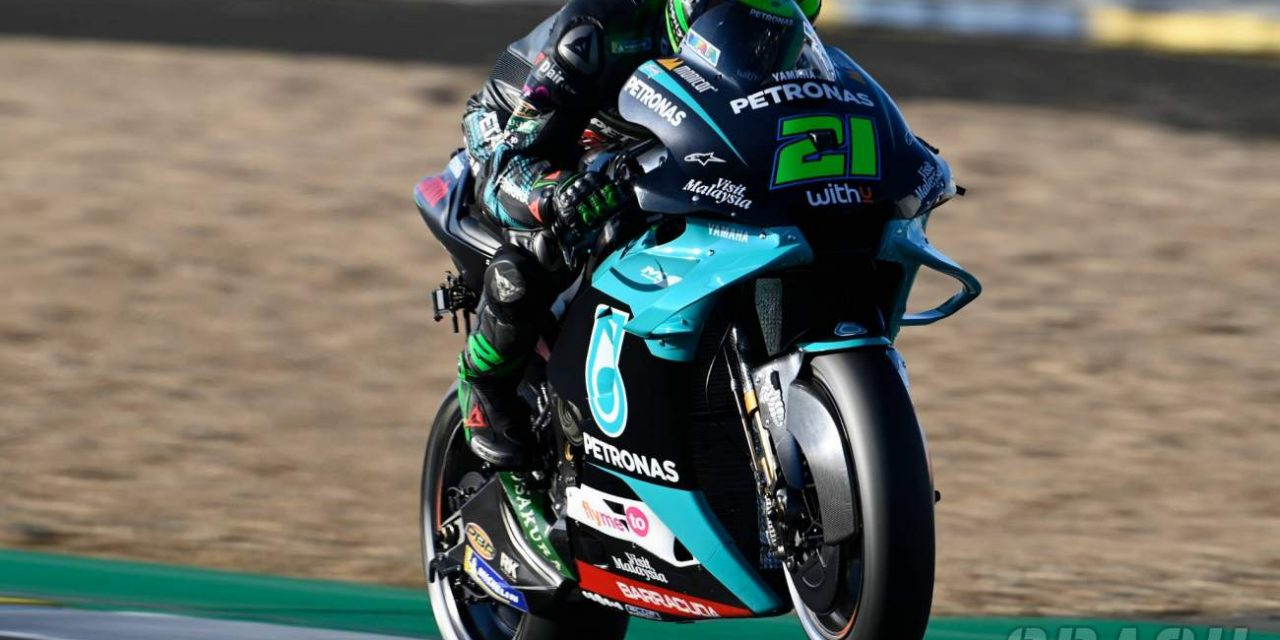 Franco Morbidelli heads Yamaha 1-2 in chilly French MotoGP warm-up   MotoGP