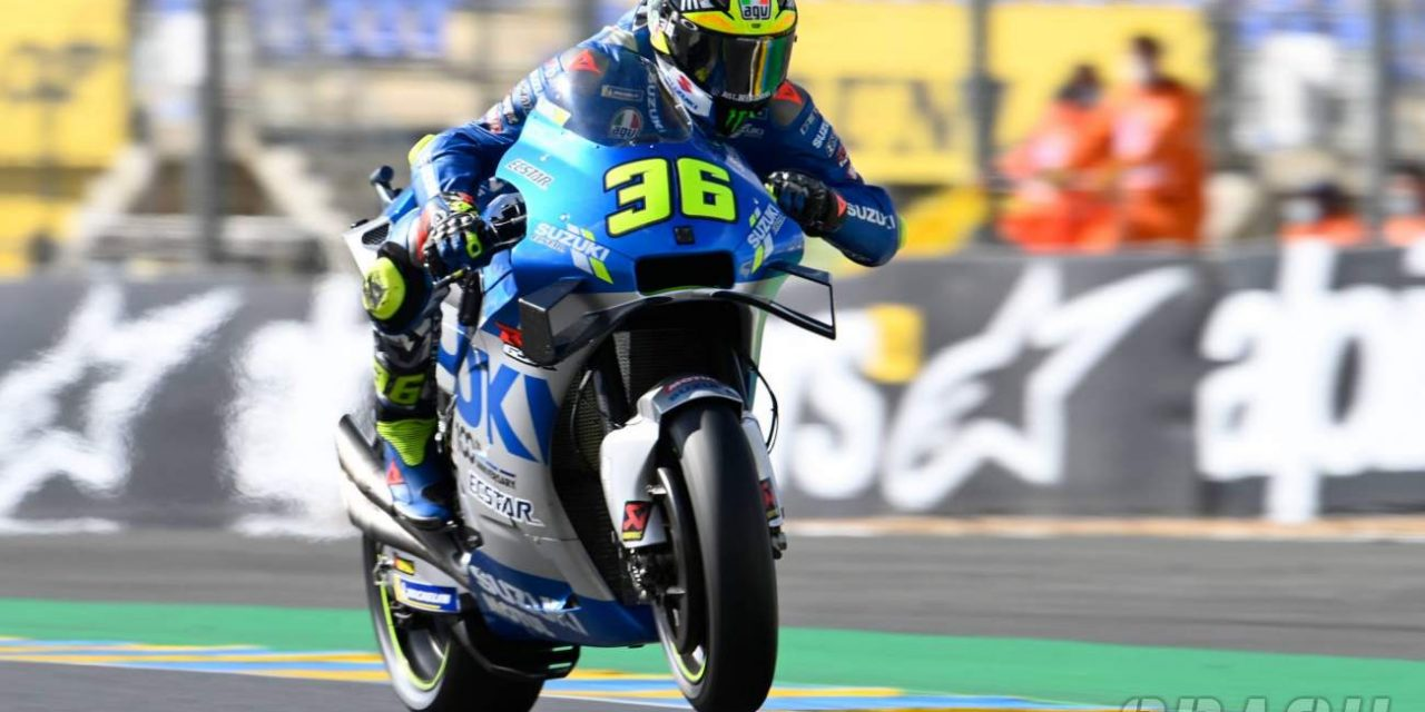 Le Mans MotoGP: 'Difficult day' leaves Joan Mir 14th, Alex Rins 16th | MotoGP