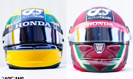 Gasly wearing Senna tribute helmet for F1's return to Imola · RaceFans