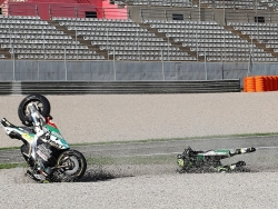 Valencia crash payback for 'bad qualifying'