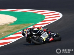 Zarco quickest in FP2, Rossi 21st after crash