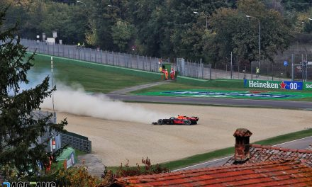Damage to Verstappen's tyre caused Imola failure