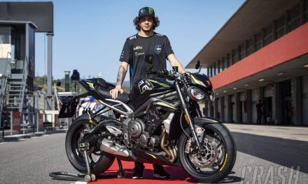 Bezzecchi awarded Triumph Street Triple RS for trophy win… but he can't ride it | MotoGP