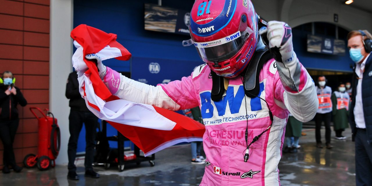 """Lance Stroll """"shocked"""" by first career pole position · RaceFans"""