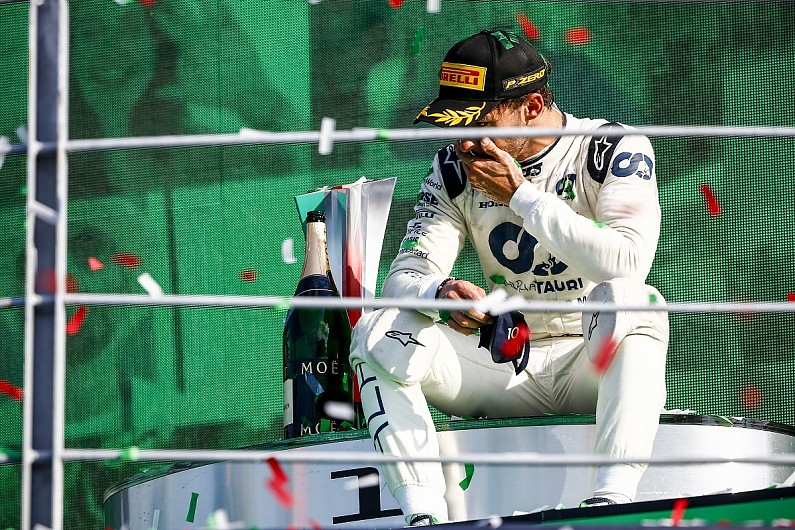 """Gasly remembers """"every single second"""" of shock F1 Italian GP victory 