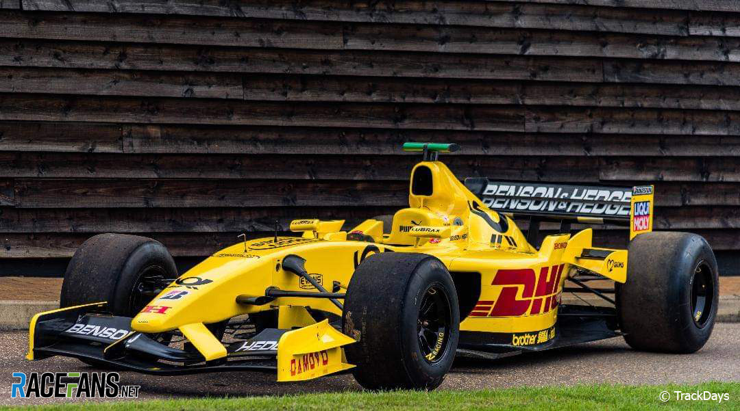 Ex-Sato 2002 Jordan F1 car offered for track day drivers