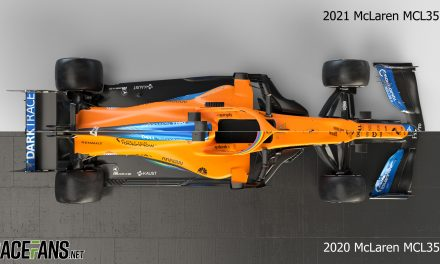 Compare the new McLaren-Mercedes MCL35M with last year's car · RaceFans