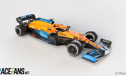 First pictures of MCL35M · RaceFans