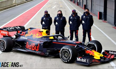 Perez first to drive new Red Bull RB16B at Silverstone · RaceFans