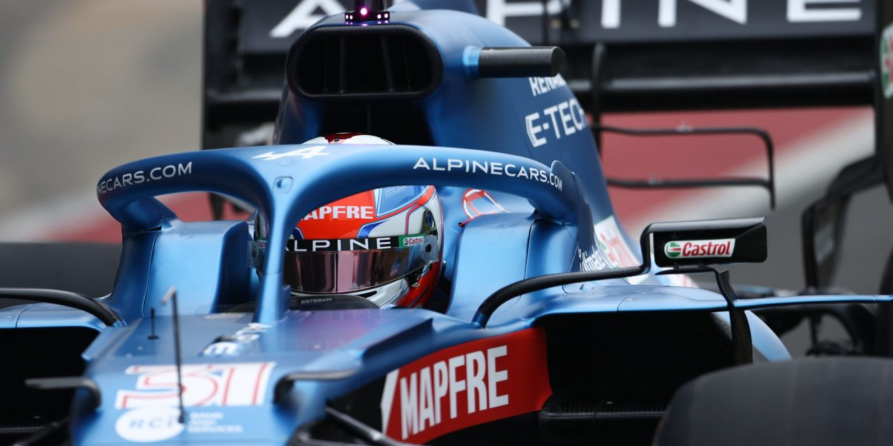Ocon gives new Alpine A521 its debut on track · RaceFans