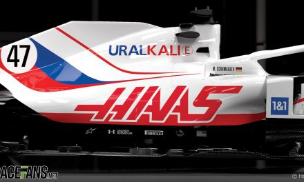 Haas livery was designed before Russian flag ban was announced