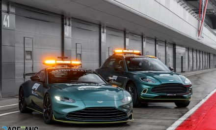 New Aston Martin F1 Safety Car and Medical Car pictured