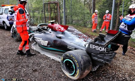 """Mercedes fear chassis """"write-off"""" from Bottas-Russell crash will slow their development · RaceFans"""