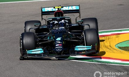 Bottas fastest from Hamilton in disrupted first practice